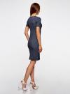 Платье в рубчик oodji #SECTION_NAME# (синий), 14011031/47349/7923N - вид 3