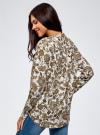 Блузка вискозная А-образного силуэта oodji #SECTION_NAME# (белый), 21411113B/42540/1231E - вид 3
