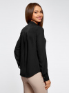 Блузка с металлическими стразами oodji #SECTION_NAME# (черный), 21401247/32823/2900N - вид 3