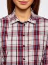 Рубашка приталенная с контрастной отделкой oodji #SECTION_NAME# (красный), 13K01002/47400/1249C - вид 4