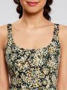 Платье-майка трикотажное oodji #SECTION_NAME# (желтый), 14015007-3B/37809/2912F - вид 4