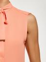 Топ свободного силуэта с завязками oodji #SECTION_NAME# (розовый), 24911002-1/36215/5400N - вид 5