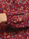 Блузка принтованная с завязками oodji #SECTION_NAME# (красный), 21418013-2/17358/4975F - вид 5