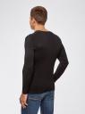 Пуловер базовый из вискозы с V-образным вырезом oodji #SECTION_NAME# (черный), 4L212140M/39795N/2900N - вид 3