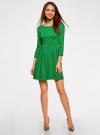 Платье трикотажное приталенное oodji #SECTION_NAME# (зеленый), 14011005B/38261/6E00N - вид 2