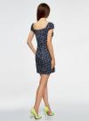 Платье хлопковое со сборками на груди oodji #SECTION_NAME# (синий), 11902047-2B/14885/7910F - вид 3
