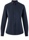 Рубашка хлопковая с вышивкой oodji для женщины (синий), 13K11008-1/43609/7900N