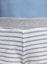 Шорты принтованные из хлопка oodji для женщины (серый), 17000025-2/48434/2010S
