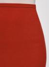 Юбка прямая базовая oodji #SECTION_NAME# (красный), 21601300B/31291/3100N - вид 4
