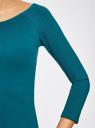 Платье облегающее с вырезом-лодочкой oodji #SECTION_NAME# (синий), 14017001-6B/47420/6C00N - вид 5