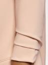 Жакет без застежки с рукавом 3/4 oodji #SECTION_NAME# (розовый), 11207010-2B/18600/4B00N - вид 5