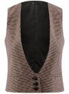 Жилет классический с декоративными карманами oodji #SECTION_NAME# (бежевый), 12300102/22124/3337C