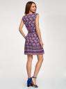 Платье вискозное с поясом oodji #SECTION_NAME# (фиолетовый), 11910073-3B/26346/8373E - вид 3