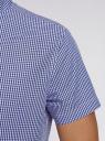 Рубашка клетчатая с коротким рукавом oodji для мужчины (синий), 3L210030M/44192N/1079C