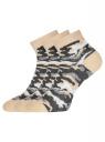 Комплект из трех пар укороченных носков oodji для женщины (разноцветный), 57102418T3/47469/27