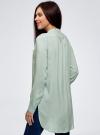 Блузка вискозная с удлиненной спинкой oodji #SECTION_NAME# (бирюзовый), 11401258-1/26346/7300N - вид 3