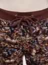 Брюки трикотажные на завязках oodji для женщины (коричневый), 16701042-1/46919/3969U