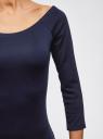 Платье облегающее с вырезом-лодочкой oodji #SECTION_NAME# (синий), 14017001-5B/46944/7900N - вид 5