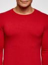 Джемпер базовый с круглым воротом oodji для мужчины (красный), 4B112003M/34390N/4501M