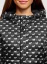 Куртка удлиненная с капюшоном oodji #SECTION_NAME# (черный), 10204058B/42257/2912O - вид 4