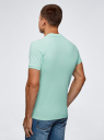 Поло из ткани пике oodji для мужчины (зеленый), 5B422001M/44032N/6C00N