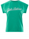 Футболка с рукавом реглан и декором на груди oodji #SECTION_NAME# (зеленый), 14707001-8/46154/6D91P