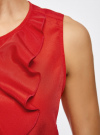 Топ с воланами и вырезом-капелькой на спине oodji для женщины (красный), 11401265/47190/4500N - вид 5