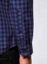 Рубашка хлопковая в клетку oodji #SECTION_NAME# (синий), 3L310168M/48837N/7975C - вид 5