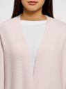 Кардиган прямого силуэта без застежки oodji #SECTION_NAME# (розовый), 63205254/48849/4000M - вид 4
