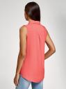 Топ вискозный с нагрудным карманом oodji для женщины (красный), 11411108B/26346/4300N
