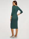 Платье приталенное с надписью oodji #SECTION_NAME# (зеленый), 14011059/48037/6929P - вид 3