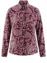 Блузка принтованная из шифона oodji #SECTION_NAME# (красный), 11400394-5/36215/4912E