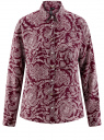 Блузка принтованная из шифона oodji для женщины (красный), 11400394-5/36215/4912E