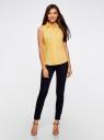 Рубашка базовая без рукавов oodji #SECTION_NAME# (желтый), 11405063-6/45510/5000N - вид 6