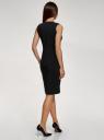 Платье облегающего силуэта с потайной молнией oodji #SECTION_NAME# (черный), 12C02007B/42250/2900N - вид 3