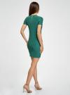 Платье трикотажное с коротким рукавом oodji для женщины (зеленый), 14011007/45262/6E00N - вид 3