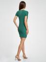 Платье трикотажное с коротким рукавом oodji #SECTION_NAME# (зеленый), 14011007/45262/6E00N - вид 3