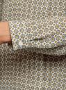 Блузка базовая из струящейся ткани oodji #SECTION_NAME# (слоновая кость), 11400368-8B/48854/3079E - вид 5