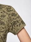 Платье-поло из ткани пике oodji #SECTION_NAME# (зеленый), 24001118-2/47005/6668E - вид 5