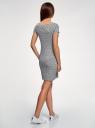 Платье трикотажное базовое oodji #SECTION_NAME# (серый), 14001117-6B/16564/2379O - вид 3