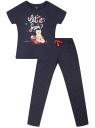 Пижама хлопковая с брюками oodji для женщины (синий), 56002200-11/47885N/7910P