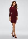 Платье вязаное с рукавом 3/4 oodji для женщины (красный), 63912222-2B/45109/4901N - вид 6
