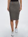 Юбка трикотажная со шлицей oodji для женщины (серый), 24101049-2B/38261/2501M
