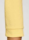 Свитшот с круглым вырезом и рукавом 3/4 oodji #SECTION_NAME# (желтый), 14801021-6/42588/5000N - вид 5
