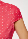 Рубашка с воротником-стойкой и коротким рукавом реглан oodji #SECTION_NAME# (розовый), 13K03006B/26357/4D10Q - вид 5