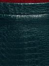 """Юбка из искусственной кожи """"под крокодила"""" oodji #SECTION_NAME# (зеленый), 18H00014-1/48882/6C00A - вид 4"""