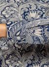 Рубашка приталенная принтованная oodji #SECTION_NAME# (синий), 21402212/14885/7530E - вид 5