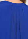 Топ вискозный с V-образным вырезом oodji для женщины (синий), 11411105B/24681/7500N - вид 5