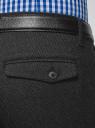 Брюки slim из фактурной ткани oodji #SECTION_NAME# (серый), 2L210246M/48766N/2500M - вид 5