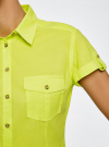 Рубашка базовая с коротким рукавом oodji #SECTION_NAME# (зеленый), 11402084-5B/45510/6A00N - вид 5